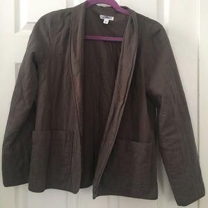 Eileen Fisher cotton quilted blazer jacket